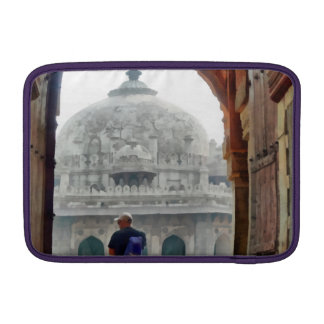Tourist in gateway MacBook air sleeve