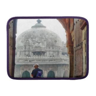 Tourist in gateway MacBook sleeve