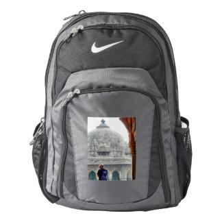 Tourist in gateway nike backpack