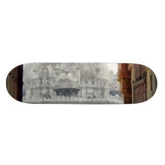 Tourist in gateway skateboard