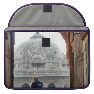 Tourist in gateway sleeve for MacBook pro