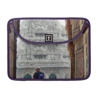 Tourist in gateway sleeve for MacBooks