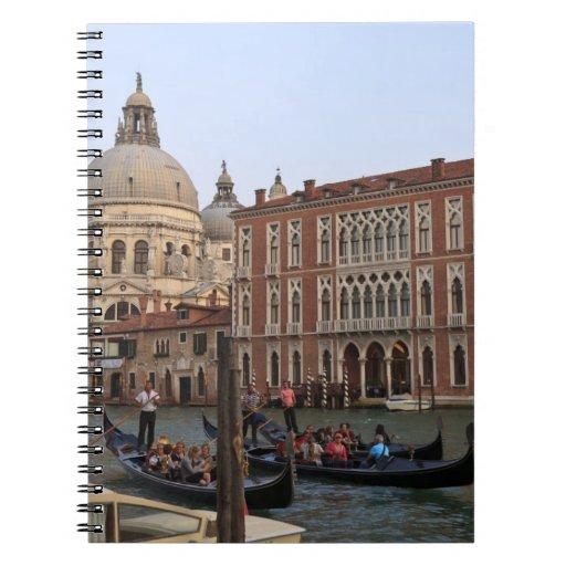Tourist in Gondolas from San Maria Del Giglio Spiral Note Book
