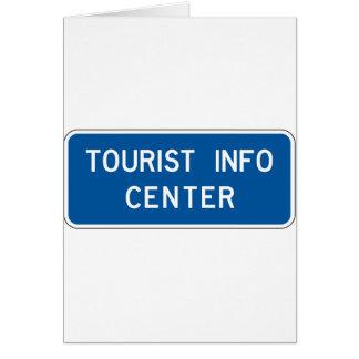 Tourist Info Center Street Sign Card