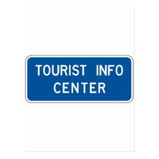 Tourist Info Center Street Sign Postcard