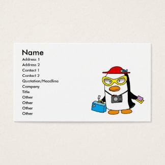 tourist penguin business card
