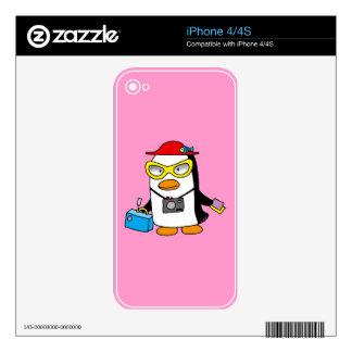 tourist penguin iPhone 4S decals