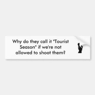 Tourist Season Car Bumper Sticker