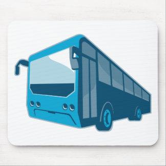tourist shuttle bus coach retro mouse pads