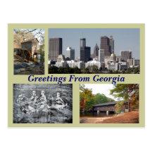 Tourist sites Georgia Postcard