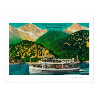 Tourist Steamer on Diablo lake, Skagit Post Card
