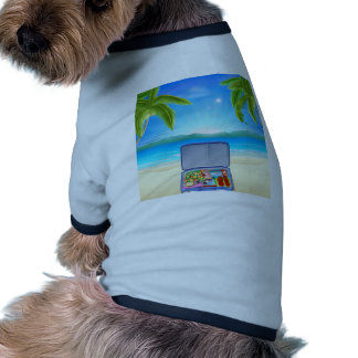 Tourist Suitcase on Tropical Beach Doggie T-shirt