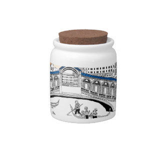 Tourist Traveling in Boats Candy Jar