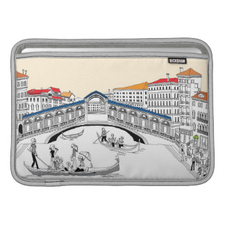 Tourist Traveling in Boats MacBook Sleeves