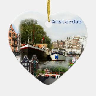 Touristic sites of Amsterdam Ceramic Ornament