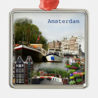 Touristic sites of Amsterdam Metal Ornament