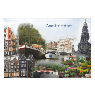 Touristic sites of Amsterdam Place Mat