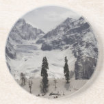Tourists and locals on the snow beverage coasters