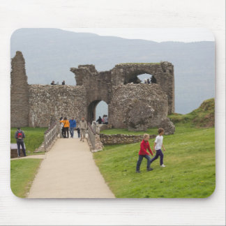Tourists and the path in the Urquhart Castle Mouse Pad