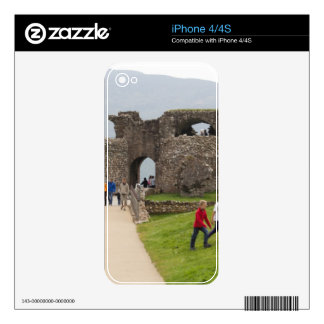 Tourists and the path in the Urquhart Castle iPhone 4S Decal