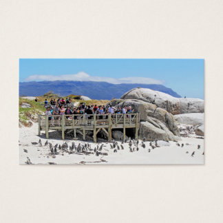 Tourists at Boulders Beach looking at penguins Business Card