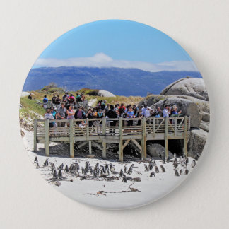 Tourists at Boulders Beach looking at penguins Pinback Button