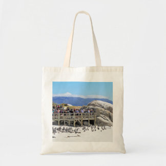 Tourists at Boulders Beach looking at penguins Tote Bag