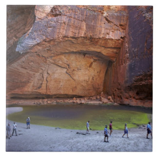Tourists at Cathedral Gorge, Bungle Bungles Ceramic Tile