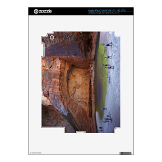 Tourists at Cathedral Gorge, Bungle Bungles iPad 3 Decals