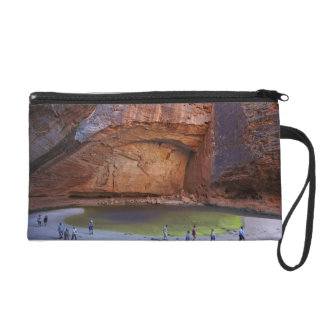 Tourists at Cathedral Gorge, Bungle Bungles Wristlet Purses