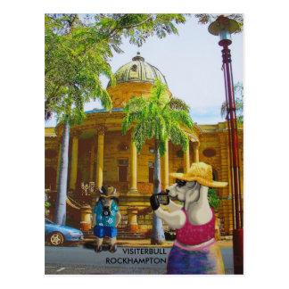 Tourists at Customs House Postcard