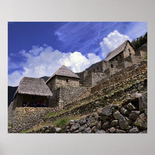 Tourists at Machu Picchu Poster