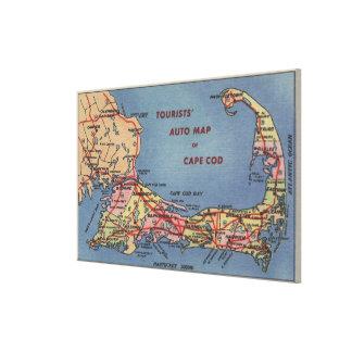 Tourists' Auto Map of Cape Cod Canvas Print