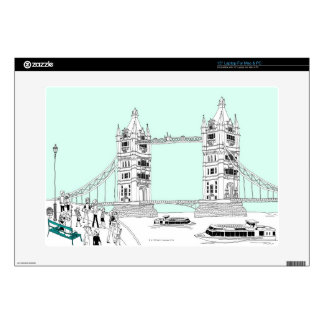 """Tourists by Railing 15"""" Laptop Skins"""