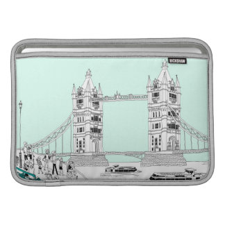 Tourists by Railing MacBook Air Sleeve