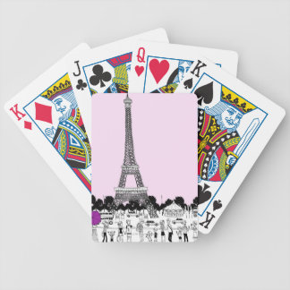 Tourists by Tower Bicycle Playing Cards