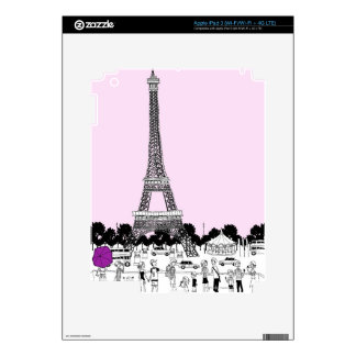 Tourists by Tower Decal For iPad 3