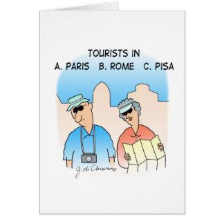 Tourists CARD