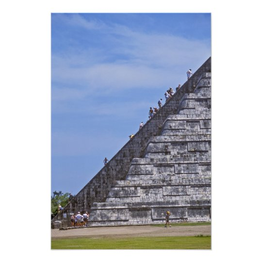 Tourists climbing stairs on ruins of El Photo Print