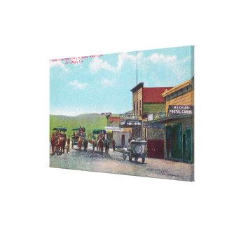 Tourists Departing for Tijuana Scene Canvas Print
