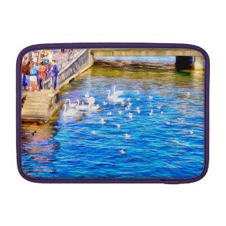 Tourists enjoying the sight of Swans MacBook Sleeve