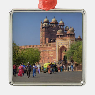 Tourists in front of Fatehpur Sikri, in the Metal Ornament