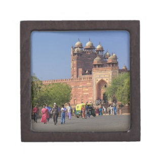 Tourists in front of Fatehpur Sikri, in the Premium Keepsake Box
