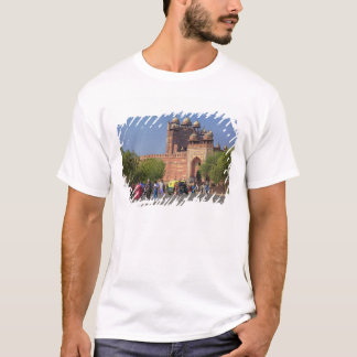 Tourists in front of Fatehpur Sikri, in the T-Shirt