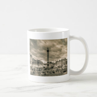 Tourists in Trafalgar Square, London Coffee Mug