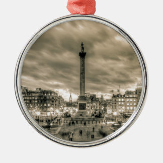 Tourists in Trafalgar Square London Christmas Ornament