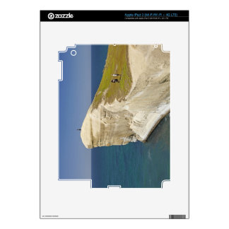 Tourists on cliff top at Tunnel Beach iPad 3 Skins