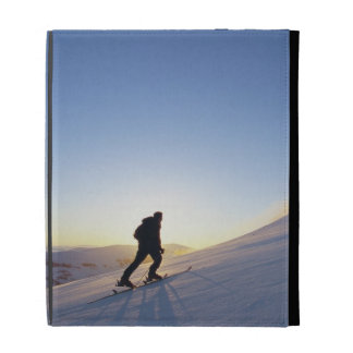Tourists on Mountain iPad Folio Cases