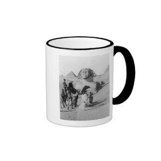 Tourists Traveling by Sphinx Ringer Mug