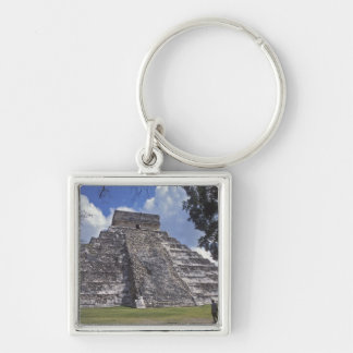Tourists walk past an unrestored side of El 2 Keychain